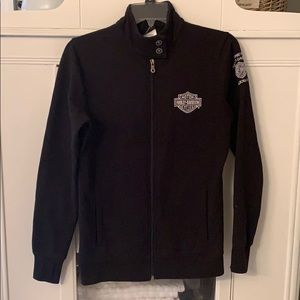 Embroidered Harley moto sweatshirt